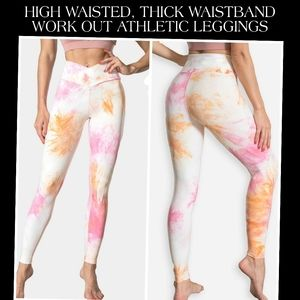 NWT HIGH WAIST THICK WAIST BAND ATHLETIC LEGGINGS
